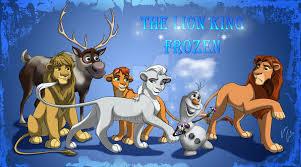 the lion king frozen by jr julia on deviantart
