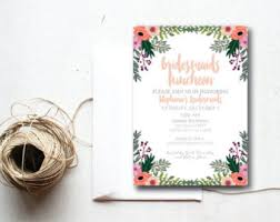bridesmaid brunch invitations bridesmaids brunch invitation rustic jar brunch