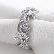 flower engagement rings wieck antique jewelry flower desgin 925 sterling silver