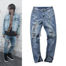 mens light blue jeans skinny mens brand skinny ripped jeans blue distroyed hole ankle zipper