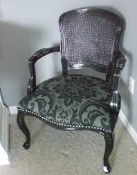 damask chair glossy black provençale armchair with caning back damask