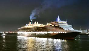 luxury liner queen elizabeth starts cruise from japan for the