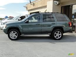 light green jeep cherokee 2003 onyx green pearlcoat jeep grand cherokee overland 4x4 61457513