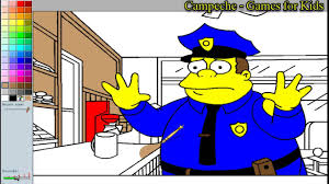 simpsons online coloring pages clancy wiggum 21 youtube