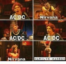 Acdc Meme - ac dc nirvana ac dc acdc nirvana marilyn manson marilyn manson