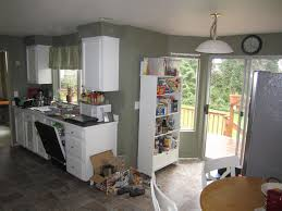 kitchen galley kitchen with breakfast nook beverage serving