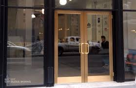 Metal Glass Door by Glass Door Sliding Automatic Revolving Nyc Glass Works