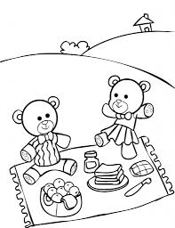 picnic drawing for kids summer picnic coloring page for kids