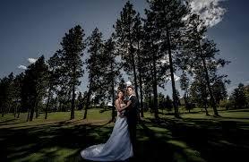 spokane wedding photographers khristina joe highlands golf course wedding spokane wedding