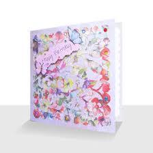 handmade happy birthday card summer floral unique greeting
