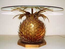 amazing home light fixtures with gold pineapple lamp and pineapple table lamp for living room design