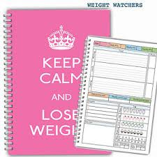 diet food diary weight watchers planner tracker log book journal