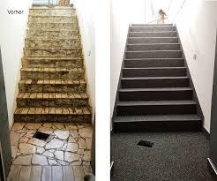 steinteppich verlegen treppe sockel wandbindemittel steinteppich aussen m t polyester m t