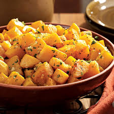 oven roasted squash with garlic parsley recipe eatingwell