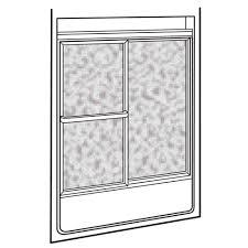 40 Inch Shower Door American Standard 572 213 Hammered Glass Showerite Framed Bypass