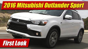 mitsubishi outlander sport 2016 red 2016 mitsubishi outlander sport first look youtube