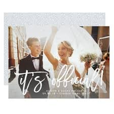 wedding announcements it s official wedding announcement zazzle