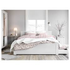 Box Bed Frame With Drawers Ikea Brusali Bed Frame With 4 Storage Boxes Bedroom Pinterest