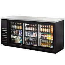 beer refrigerator glass door beverage air bb94 1 s back bar cooler three door bar