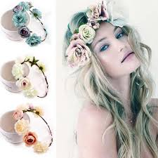 flower headbands fabric flower headbands for woman bridal wedding flower