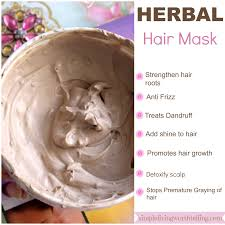 simple living worth telling herbal hair mask