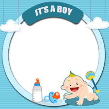 its a boy baby welcome photo frame with your photo pics