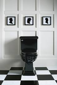 best 25 black toilet ideas on pinterest concrete bathroom these small square framed silhouettes perfectly echo the bathroom tiles and the clean simple