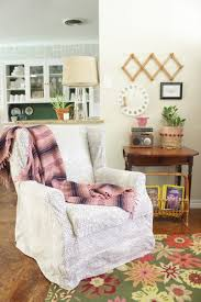 Slipcover Wing Chair Wingback Chair Slipcover Tutorial Create Your Own Diy Slipcover