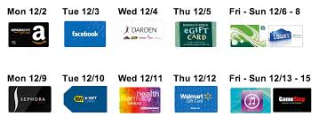 gift cards sale amazing december gift card sale the daily swag