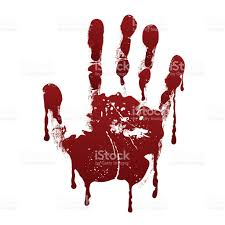 bloody handprint horror dirty scary blood vector background stock