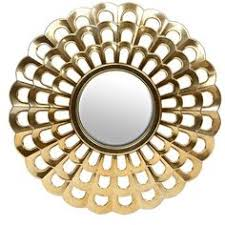 Home Decorating Mirrors by Gold Mirrored Sunburst Mirror Sunburst Mirror Decorative