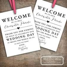 Wedding Gift Destination Wedding Set Of 10 Gift Tags For Wedding Hotel Welcome Bag Destination