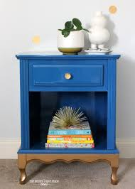 glam blue u0026 gold nightstand the homes i have made