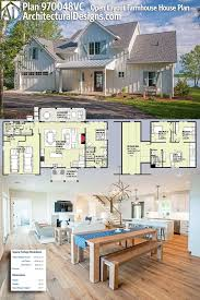 one story farmhouse one story farmhouse plans with porches luxury plan vc open layout