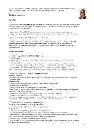 Example Hospitality Resume by Sample Hospitality Resume Template Examples