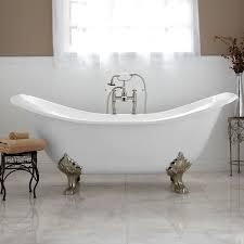 Clawfoot Tub Bathroom Design Furniture Home Cast Iron Double Ended Slipper Tub Corirae