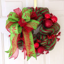 christmas bows for sale sale whimsical deco mesh christmas wreath merry