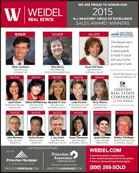 congratulations to our njar coe winners weidel real estate