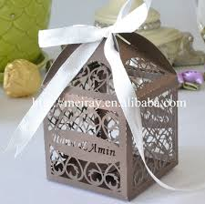 where to buy boxes for gifts 50pcs laser cut silver party favors boxes custom gift box for
