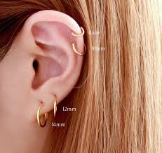 ear hoop 8mm hoop earring hoop earrings piercings piercing