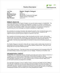 layout artist job specification graphic design job description sle digital graphic designer job