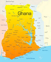 Accra Ghana Map Abstract Vector Color Map Of Ghana Country Royalty Free Cliparts