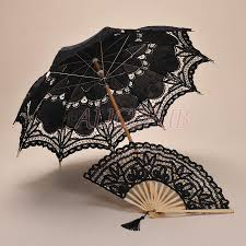 black lace fan black lace umbrella fan set handmade black umbrella parasol