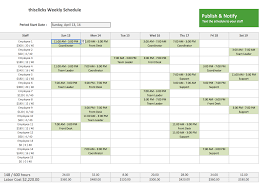 Employee Schedule Template Excel Employee Work Schedule Template