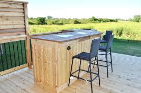 patio ideas free diy outdoor bar plans backyard tiki bar plans