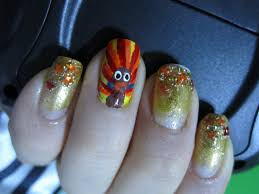 thanksgiving turkey nail art nails design thanksgiving beautify themselves with sweet nails