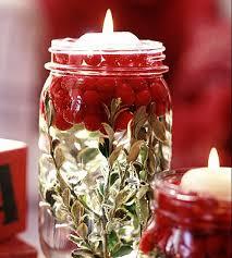 cranberry u0026 candle mason jar centerpiece mason jar crafts