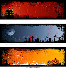 avenue clipart of halloween haunted house graveyard and pumpkin