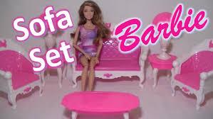 sofa set furniture barbie sofa set furniture for dreamhouse play toy youtube