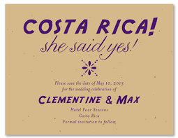 Save The Date Samples Destination Wedding Save The Date Cards On Plantable Paper Costa